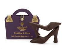 Charbonnel Purple Handbag & Heels Dark Chocolate Shoes 60g